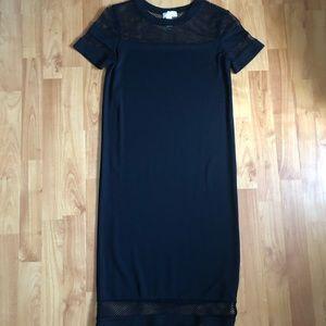 Black T-Shirt Midi Dress